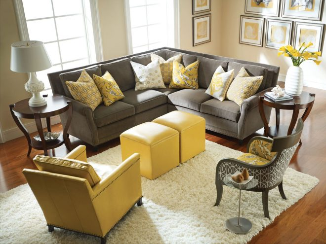 yellow and gray rooms decorating grey yellow living