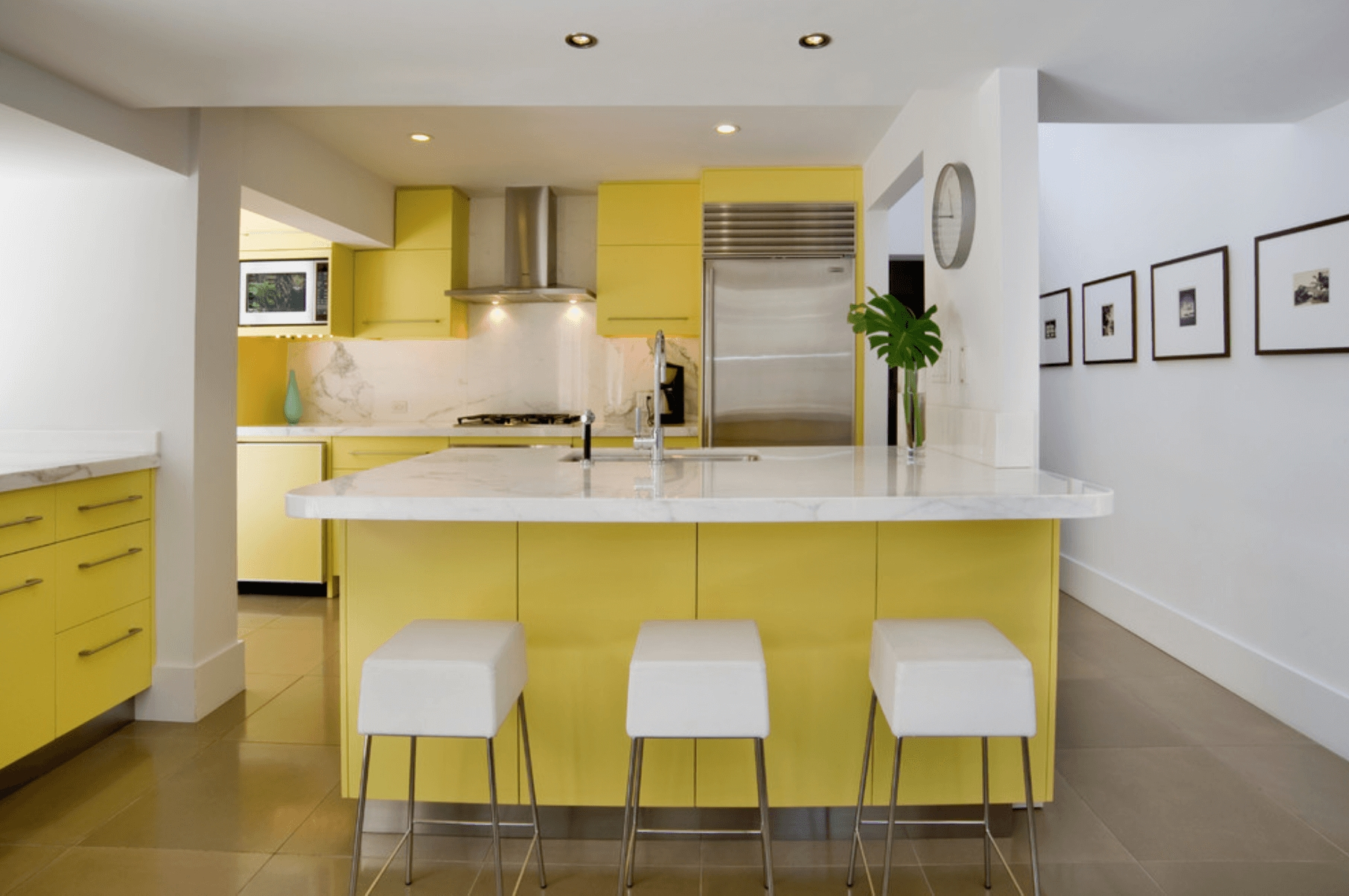 yellow and white kitchen kitchen pinterest kitchens refacing