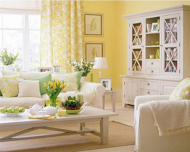 yellow walls living room interior decor fridaydeals2011