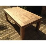 york 1mtr x 2mtr rectangular dining table the table is made from reclaimed teak