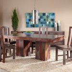zebrano dining set with six side chairs at gardner white
