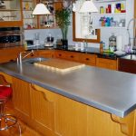 zinc countertop on a traditional kitchen island dream